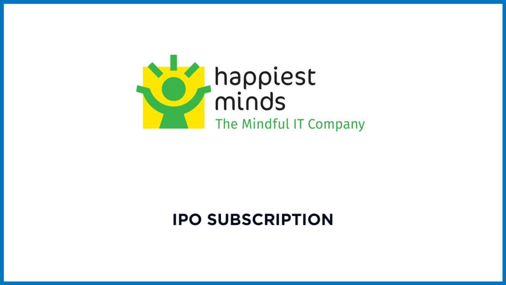 Happiest Minds Tech IPO Subscription Data (Live) 1