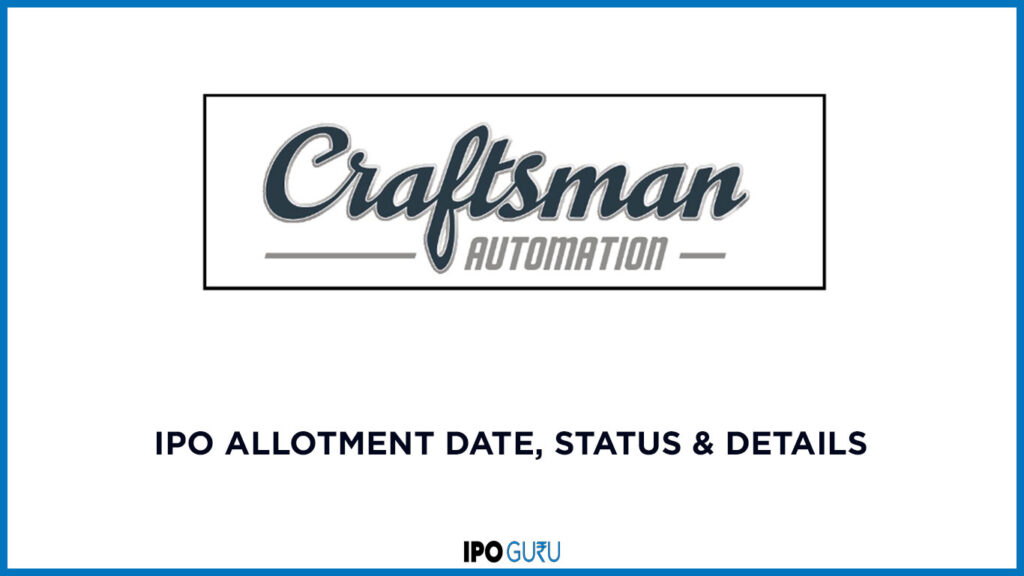 Craftsman-Automation-IPO-Allotment-Dates-status-and-details